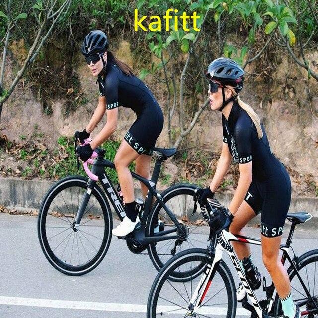 2020-kafitt-pro feminino corrida triathlon camisa de uma peça vestido pequeno macaco manga curta terno roupas de trabalho ciclismo gel 6