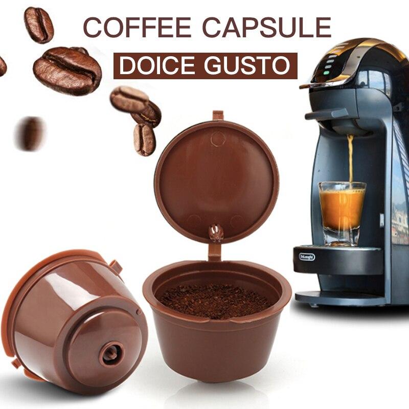 5PCS kaffee kapsel nestle dolce gusto kapsel nespresso nachfüllbare kapsel kaffee filter reusable cafe werkzeuge Schnelle lieferung Umweltschutz wiederholt verwendet Umweltschutz Kunststoff überlegenes Material Heißver