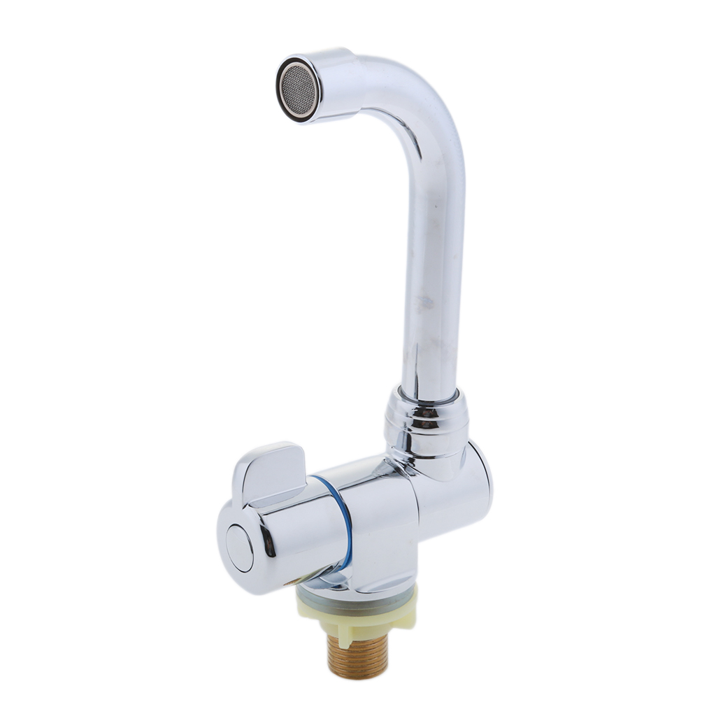 360° Rotation Single Cold Water Kitchen Faucet Tap for Marine Home RV #009