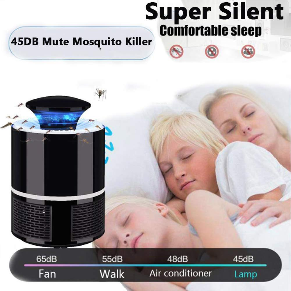 Home Mosquito Killer Lamp USB Powered Smart Light Control UV LED Photocatalyst Fly Bug Dispeller With Suction Fan