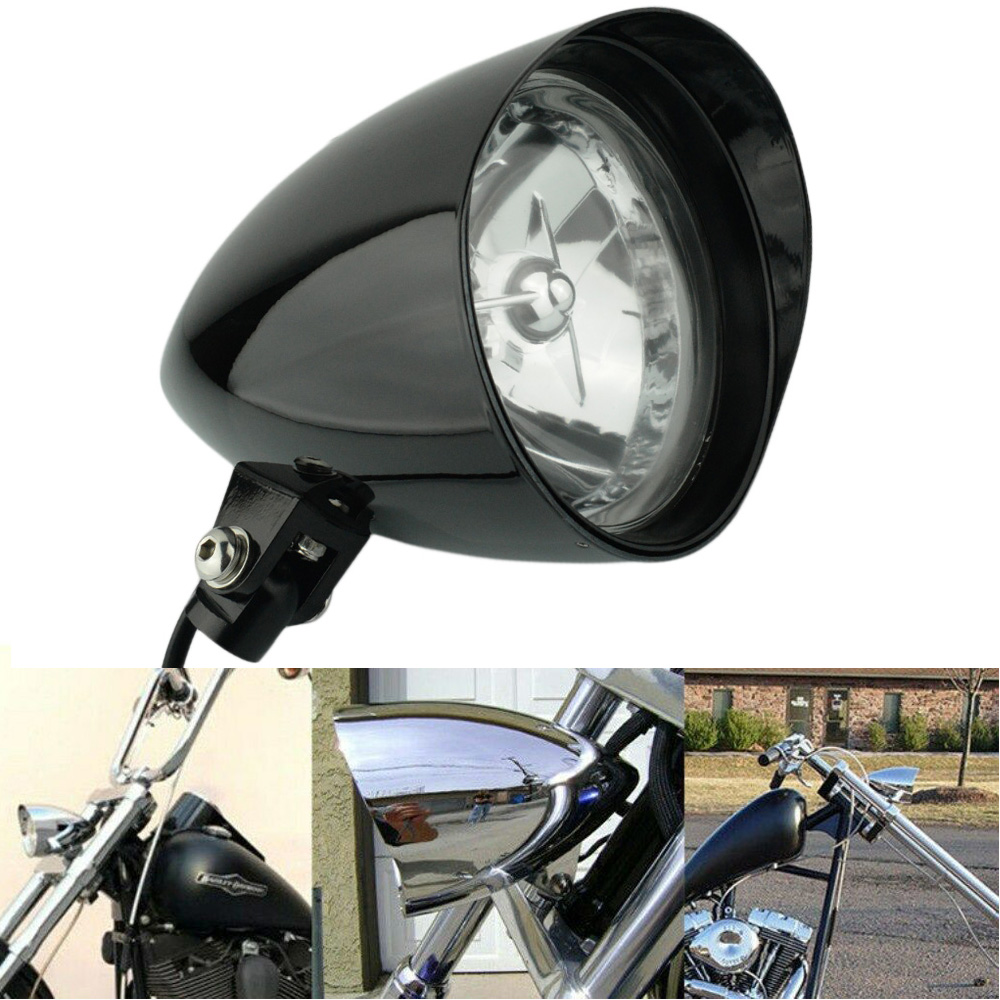 "6"" Big  headlight Motorcycle Bullet Tri Bar For Harley Davidson Sportster XL883 1200 48 72 Dyna Wide Glide Cruisers