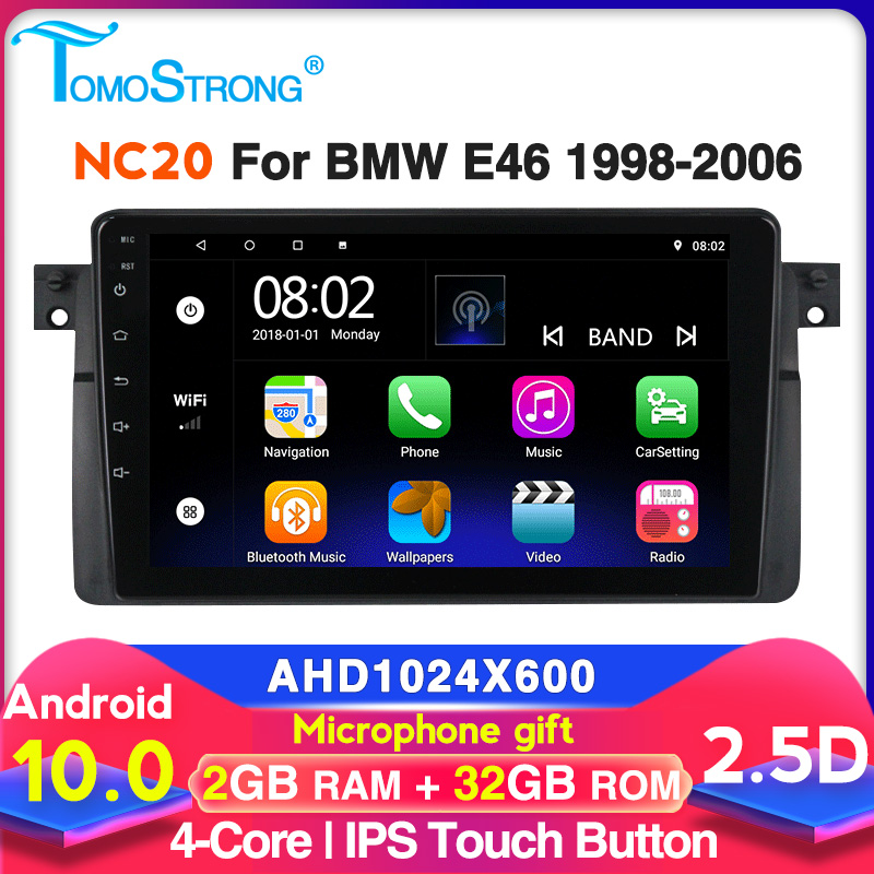 Car Multimedia Player For BMW E46 M3 318/320/325/330/335 Rover 75Coupe Navigation GPS Stereo 2+32GB 2.5D Screen Audio
