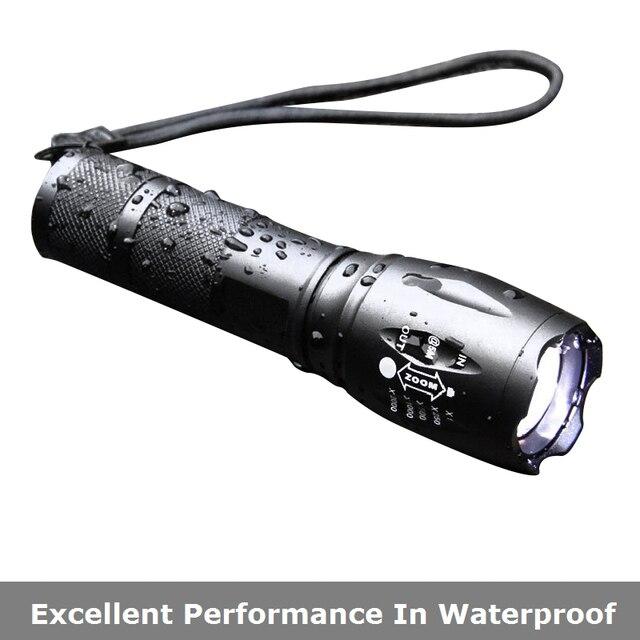 Lampe de poche LED 1000 lumen T6 L2 lanterne batterie externe étanche Zoomable 18650 batterie lampe extérieure Linterna torche lampe de poche.