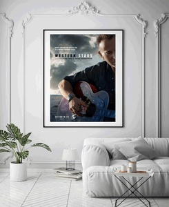M276 estrellas occidentales Bruce Springsteen música película cartel Arte tela pintura 12x18 24x36in decoración cuadros de pared para el hogar
