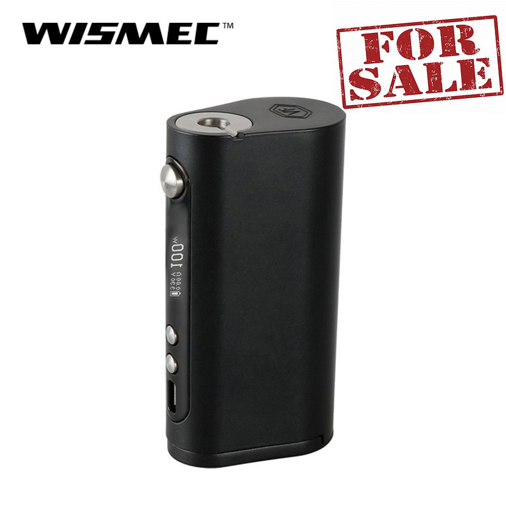Original 100W Wismec Vaporflask Stout TC Mod Stainless Steel TC/VW/Bypass Vape Box Mod Electronic Cigarette Box Mod E-Cig