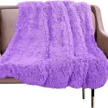 Европейское роскошное длинное мягкое плюшевое одеяло с мехом Фланелевое лохматое покрывало постельные принадлежности Простыня флисовое теплое одеяло для кровати диван для путешествий