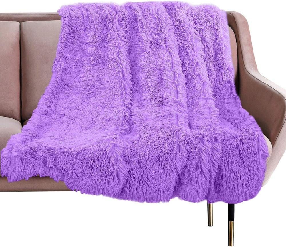 Europe Luxury Long Soft Plush Blanket Fur Flannel Shaggy Cover Bedding Sheet Fleece Warm Throws for Bed Sofa Travel Use