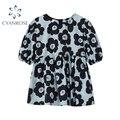Женская винтажная блузка с коротким рукавом, повседневная элегантная Свободная блузка в Корейском стиле с цветочным принтом и круглым выре...