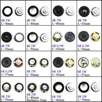 YuXi 4/8 Ohm 1W 2W 3W 4R 8R 0.5/1/2/3/5W 28mm 30mm 36mm 40mm 45mm 50mm 57mm  Diameter Loudspeaker Loud Speaker