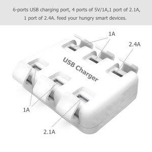 Image 2 - Tüm akıllı telefonlar için Pad 5 V/8A 6 USB bağlantı noktası çoklu duvar akıllı şarj cihazı hızlı şarj adaptörü ab/abd Plug telefon USB şarj cihazı