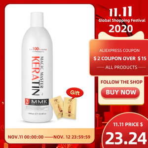 Image 1 - 1000ml Without  Formalin Keratin Fresh Smelling Magic Master Keratin Brazilian Treatment Straighten and Smooth for Damaged Hair