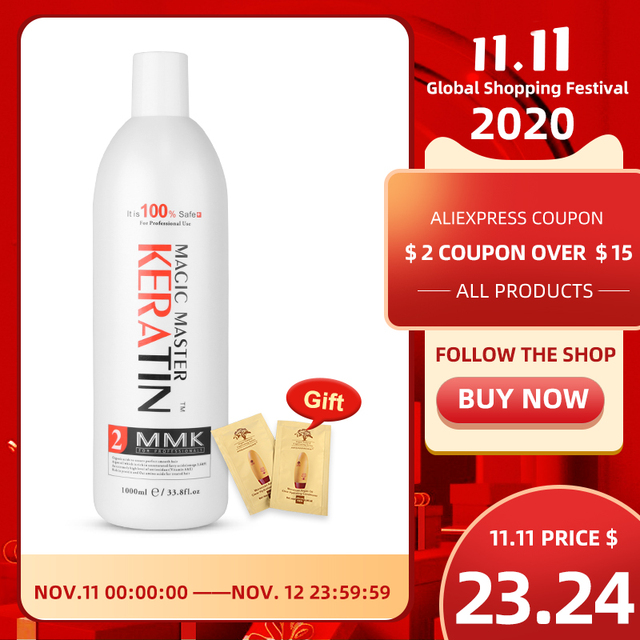 1000ml Without  Formalin Keratin Fresh Smelling Magic Master Keratin Brazilian Treatment Straighten and Smooth for Damaged Hair
