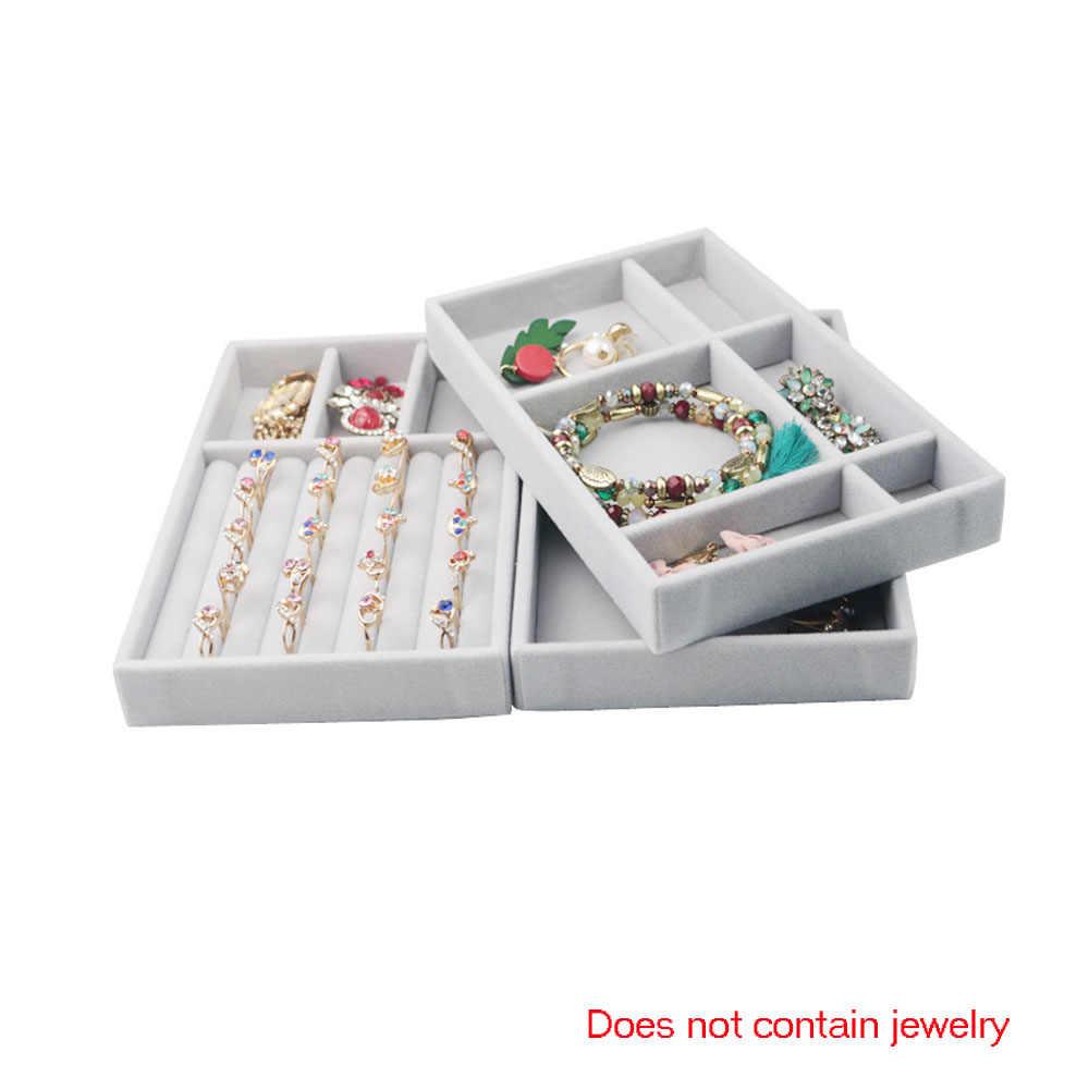 1 PC ใหม่ลิ้นชัก DIY เครื่องประดับถาดแหวนสร้อยข้อมือของขวัญกล่องเครื่องประดับ Organizer ต่างหูขนาดเล็กขนาดพอดีส่วนใหญ่พื้นที่ห้อง