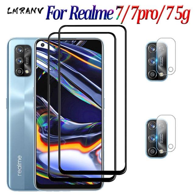 طبقة رقيقة واقية ل Realme 7 7 Pro الزجاج Realme7 7pro واقي للشاشة كاميرا السلامة عدسة فيلم Realmi Realme 7 Pro 7 5g الزجاج