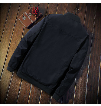 New Trend Mens Military Jacket Autumn Men Slim Fit Casual Bomber Jackets Solid Splice Male