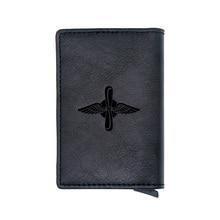 Classic Военно воздушные силы России Design Rfid Card Holder Wallets Classic Men Women Credit Card Leather Purse