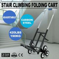 190kg 6 Wheel Heavy Duty Stair Climbing Truck Hand Sack Truck Tri Wheel Trolley