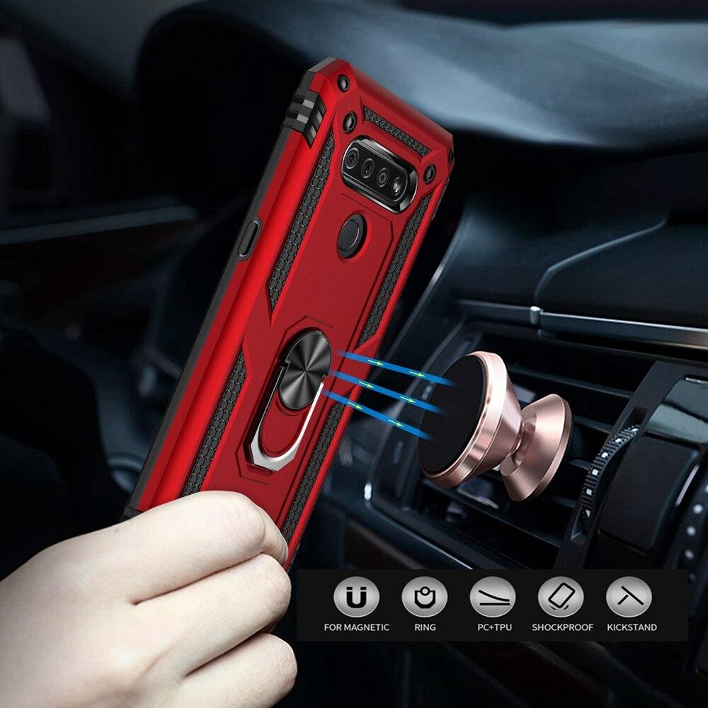 For LG K51 Q51 Case Shockproof Armor Car Ring Holder Stand Back Cover For LG K30 2019 K31 K40 K50 K50S Phone Cases