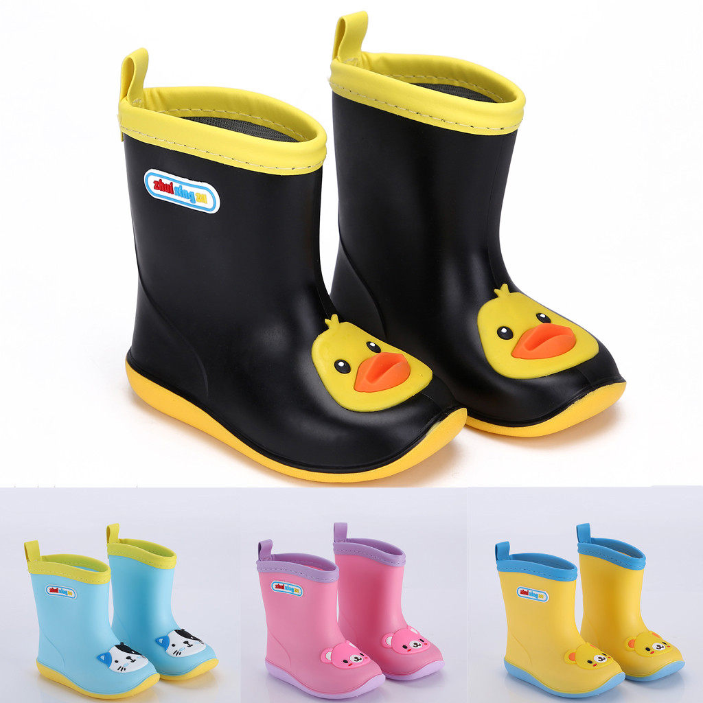 Toddler Infant Kids Baby Boys Girls PVC Rain Boots Waterproof Non-Slip Shoes  Children's Suit High Quality
