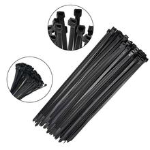 Dropshipping 250pcs 500pcs 4.8x200mm 4.8x300mm Self-Locking Nylon Plastic Wire Cable Zip Ties Wrap Zip Ties 75lbs 100 500pcs nylon cable ties self locking cable zip fasten wire accessories wrap strap fastening bag clips tie plastic zip ties