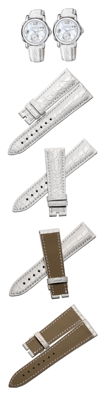 jacaré pele crocodile grain leather strap watch band