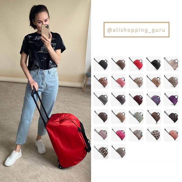 JULY'S SONG Luggage Bag Travel Duffle Trolley bag Rolling Suitcase Trolley Women Men Travel Bags  With Wheel Carry-On bag 1