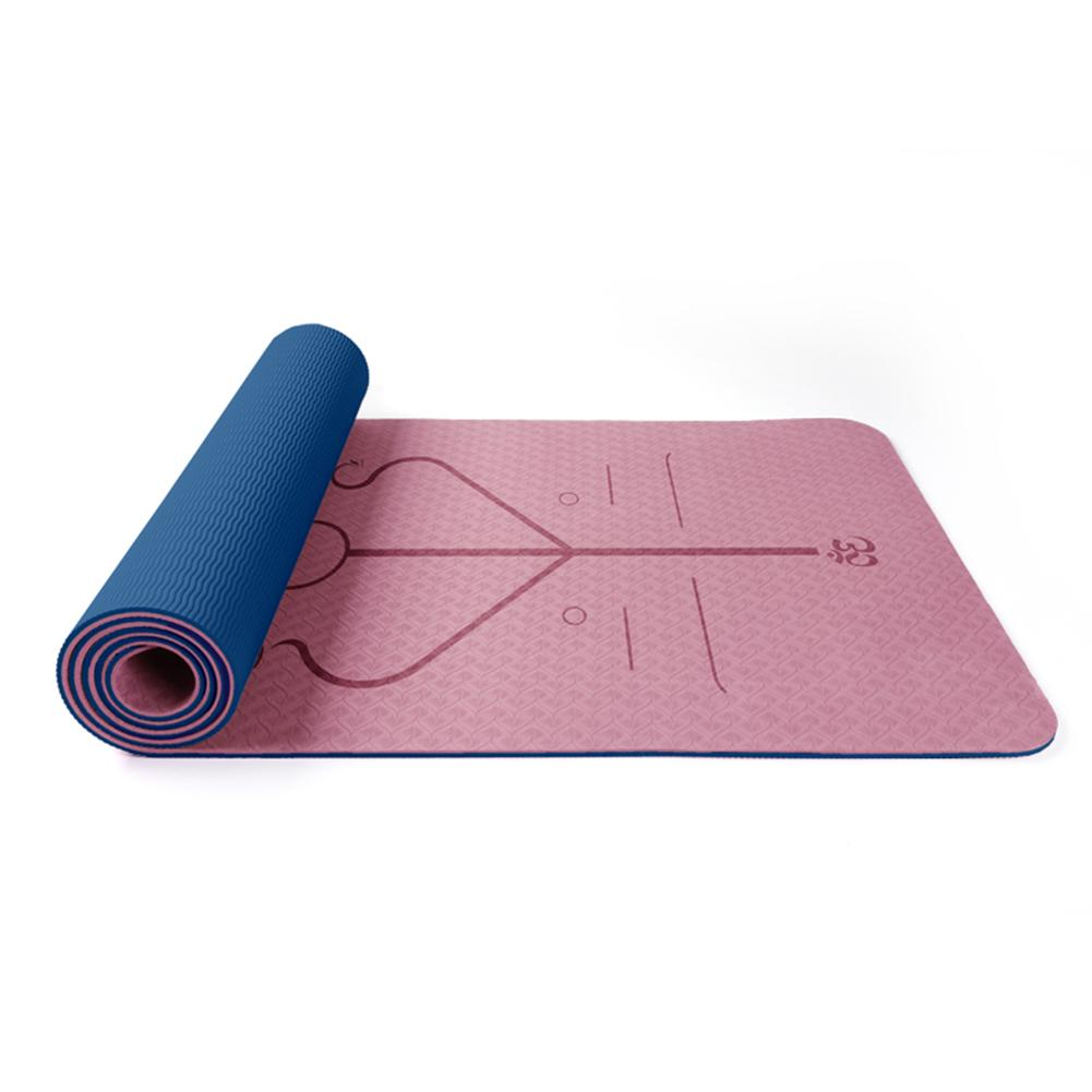Non-Slip TPE Yoga Mat With Position Line 11