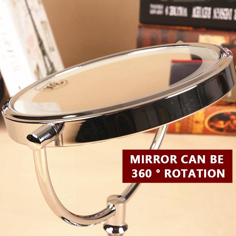 desktop 2-face espelho de metal 3x ampliação