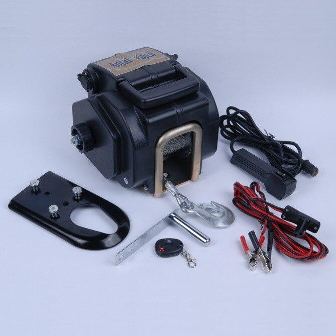 12V 3500 Pound Electric Marine Winch With Wireless Remote Contr