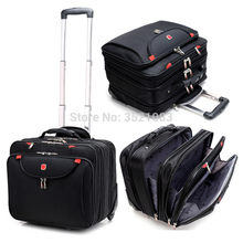 "Cabin Rolling Luggage 18"" inch Travel Suitcase Multifunction Business box Carry Ons Laptop Bag Trolley Case for Men and Women(China)"