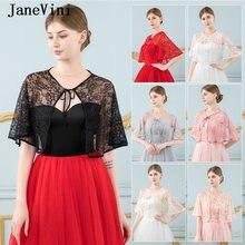 Janevini винтажные Летние черные кружевные свадебные обертывания