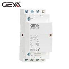 цена на GEYA 3P 16A 20A 25A 3NO Household Modular AC Contactor DIN Rail Type AC220V Automatic