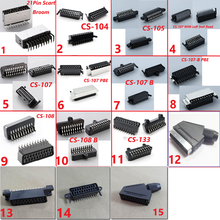 Scart 21pin broom head connector Socket set top box STB with shield screw holes