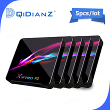 5 sztuk Smart TV BOX x88pro x3 Android 9.0 8K podwójny Wifi BT odtwarzacz multimedialny sklep google Play darmowa aplikacja Fast Set top BOX PK HK1MAX H96