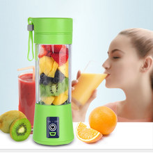 400ml Portable Fruit Electric Mini Machine USB Rechargeable Vegetable Bottle Smoothie Maker Fruit(China)