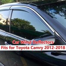 Car Wind Deflectors For Toyota Camry 2018 2017 2016 2015 2014 2013 2012 Side door Window Rain Guards vent Visors