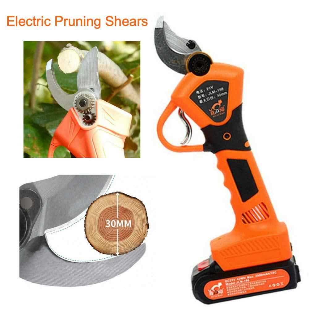 21V 30mm Electric Pruning Shears Tool Cordless Pruner Cutter Garden Tree Nursery