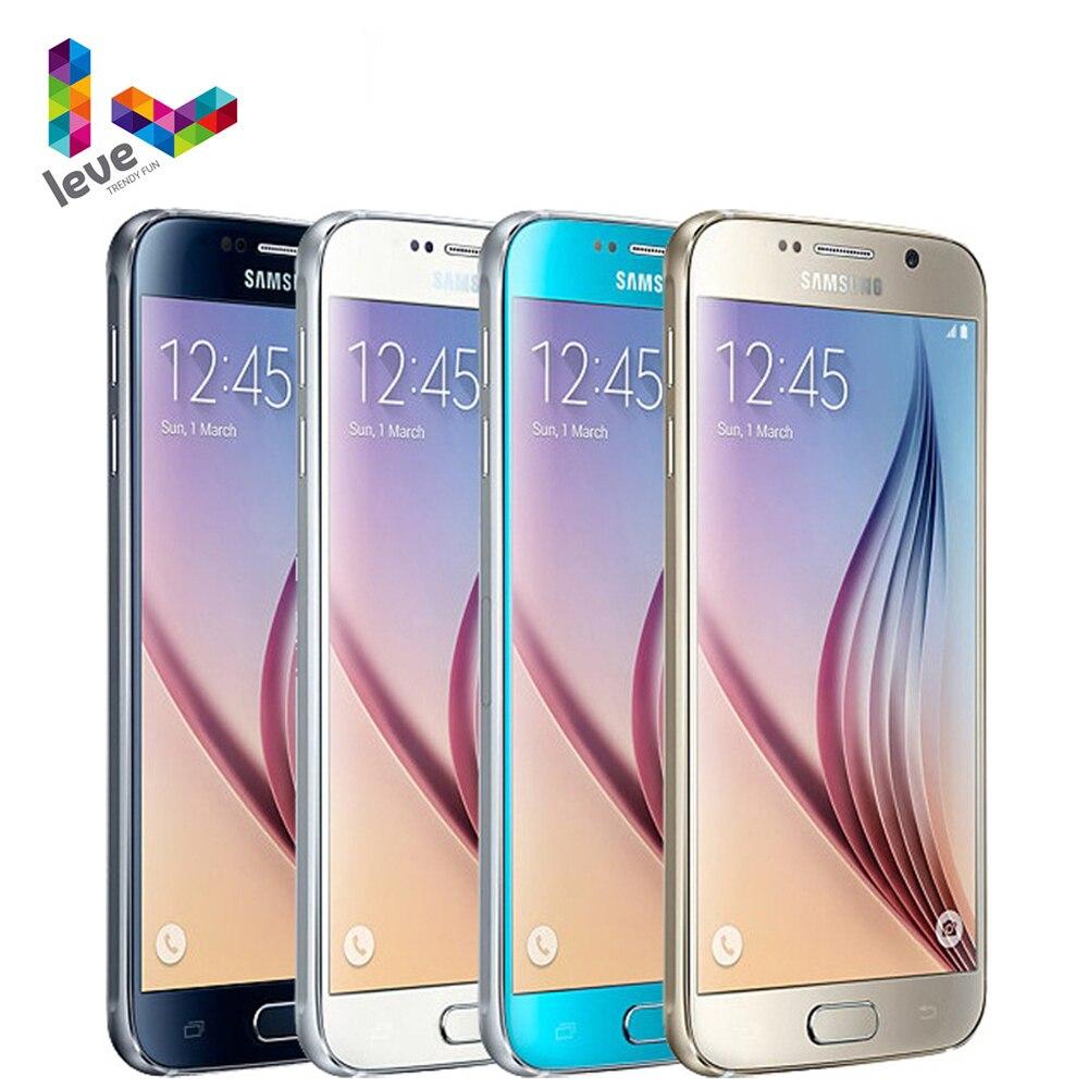 Оригинальный разблокированный смартфон Samsung Galaxy S6 G920F G920A мобильный телефон 5,1 дюйма 16 МП 3 ГБ ОЗУ 32 Гб ПЗУ Восьмиядерный 4G LTE Android