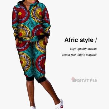 Afric, женский брючный костюм, африканская одежда, одежда для отдыха в Африке, Женское пальто, Женский хлопковый восковой материал WY5408