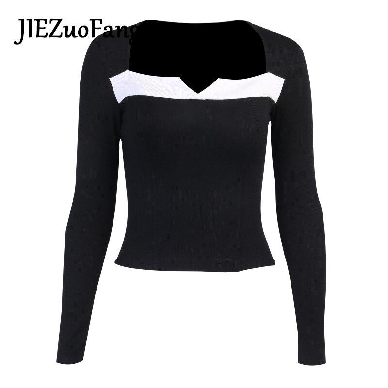 Jiezuofang модная Женская Сексуальная футболка в готическом