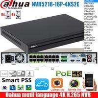 Original dahua mutil language NVR DHI NVR5216 16P 4KS2E DHI NVR5216 16P 4KS2E 16POE ports 4K H.265 NVR Network Video Recorder