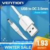 Chính Hãng Vention USB DC 3.5 Mm USB Một Nam Đến 3.5 Jack Kết Nối Nguồn Điện 5V Sạc Nguồn Adapter dây Cáp Cho Hub USB Công Suất Quạt Cáp