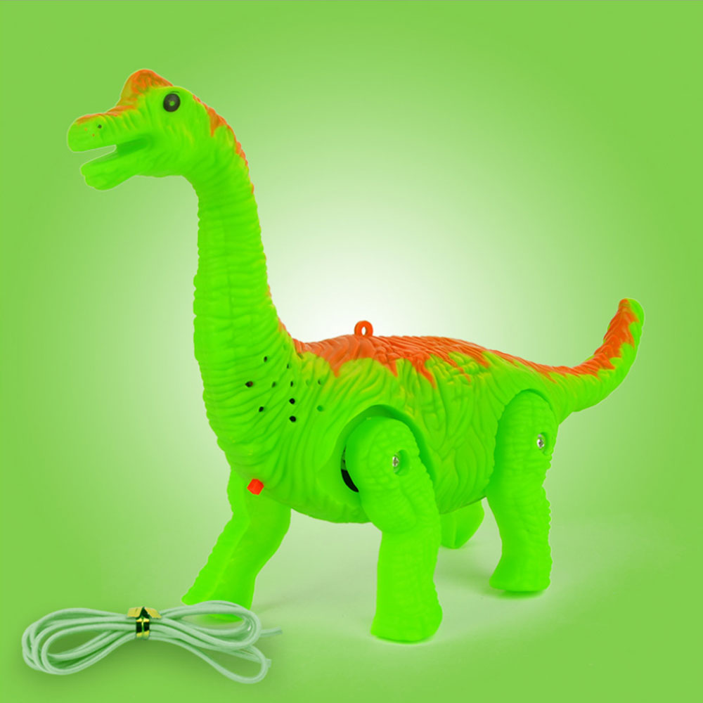 New Electronic Robot With Light Sound Electric Walking Light Vocal Leash Dinosaur Colorful Musictoy For Kids Baby Christmas Gift
