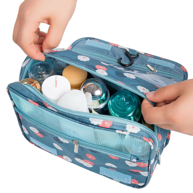 Women Bags Travel Makeup Cosmetic Bag Toiletry Wash Case Organizer Storage Hanging Pouch /BY