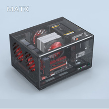 MATX Horizontal Computer Case Support ITX Motherboard DIY Desktop Cases Acrylic Transparent