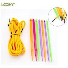 7 Pcs Looen Mix 4.0-7.0mm Crochet Hooks Set DIY Needle Arts Craft Knitting Needles Weave Crocheting Sewing Tools