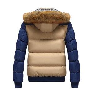 Image 4 - 2020 브랜드 뉴 겨울 자 켓 남자 따뜻한 자 켓 9 색 패션 브랜드 모피 후드 모자 남자 Outwear 코트 캐주얼 두꺼운 망 4XL