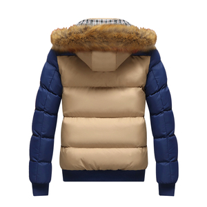 Image 4 - 2020 Brand New Winter Jacket Men Warm Down Jacket 9 Color Fashion Brand With Fur Hood Hat Men Outwear Coat Casual Thick Mens 4XL