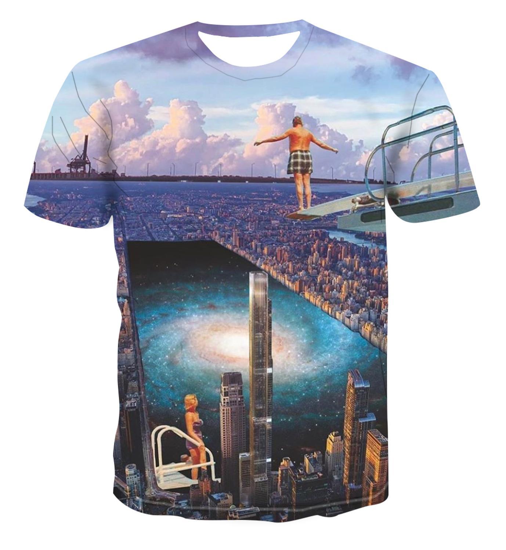 2020 New 3DT Shirt Creative Anime Print Summer T-shirt Men's Fashion Handsome Top S-6XL