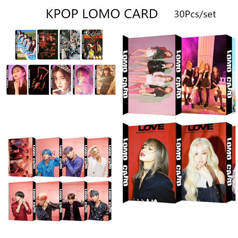 Paper Album Lomo-Card BLACKPINK Red Velvet Bangtan Boys KPOP XQ128 30pcs/Set